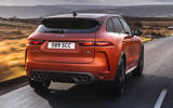 3 Jaguar F Pace SVR 2021 UK first drive review hero rear