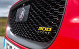 Jaguar XE 300 Sport 2018 UK first drive review front grille