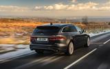 3 Jaguar XF Sportbrake 2021 UK first drive review hero rear