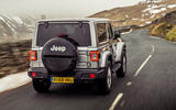 Jeep Wrangler 2019 UK first drive review - hero rear