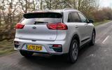 3 kia e niro 39kwh 2021 uk first drive review hero rear