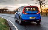 Kia Soul EV 2020 UK first drive review - hero rear