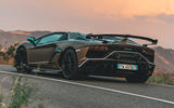 Lamborghini Aventador SVJ Roadster 2019 first drive review - hero rear