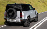 3 Land Rover Defender 90 D250 2021 UK first drive review hero rear