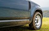 3 Land Rover Defender Hard Top Commercial 90 UK FD alloy wheels