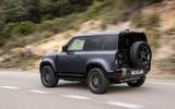 3 Land Rover Defender V8 2021 UK FD hero rear