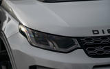 3 Land Rover Discovery P300e 2021 UK FD headlights