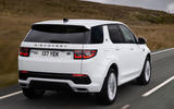Land Rover Discovery Sport P300 PHEV 2020 UK first drive review - hero rear