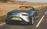 Lexus LC Convertible 2020 UK first drive review - hero rear