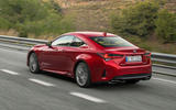 Lexus RC 300h 2019 first drive review - hero rear