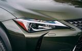 3 Lexus UX300e 2021 UK first drive review headlights