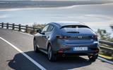 Mazda 3 2019 European first drive review - hero rear