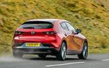 Mazda 3 2019 UK first drive review - hero rear