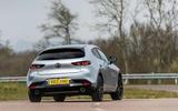 3 Mazda 3 e Skyactiv X 2021 UK fd hero rear