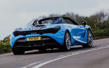 McLaren 720S Spider 2019 UK first drive - hero rear