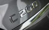 Mercedes-Benz C-Class C200 2018 review model badge