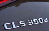 Mercedes-Benz CLS 350 d 2018 UK first drive badges