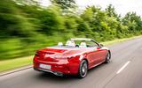 Mercedes-Benz E-Class e450 Cabriolet 2020 UK first drive review - hero rear