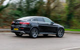 Mercedes-Benz GLC 300 2020 UK first drive review - hero rear
