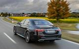 Mercedes-Benz S Class S580e 2020 first drive review - hero rear