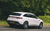 Mercedes-Benz EQC 400 2019 UK first drive review - tracking rear