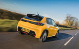 Peugeot 208 GT Line 2020 UK first drive review - hero rear