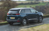 Peugeot 5008 2020 UK First Drive review - hero rear