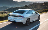 Peugeot 508 Hybrid4 2020 first drive review - hero rear