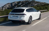 Peugeot 508 SW 2018 first drive review - hero rear