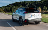 Peugeot e-2008 2020 first drive review - hero rear
