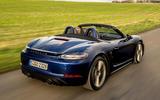 Porsche 718 Boxster GTS 4.0 PDK 2020 UK first drive review - hero rear