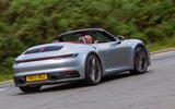 Porsche 911 Carrera 4S Cabriolet 2019 UK first drive review - hero rear