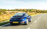 Porsche 911 Carrera S manual 2020 first drive review - hero rear