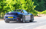 Porsche 911 Turbo S Cabriolet 2020 UK first drive review - hero rear