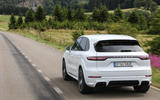 Porsche Cayenne Turbo S E-hybrid 2019 first drive review - hero rear