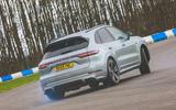 Porsche Cayenne Turbo S E-Hybrid 2020 UK first drive review - hero rear