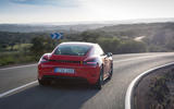 Porsche Cayman T 2019 first drive review - hero rear