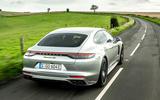 Porsche Panamera e-Hybrid 2020 UK first drive review - hero rear