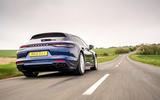 3 Porsche Panamera Turbo S E Hybrid ST 2021 UK FD hero rear