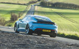 Porsche Taycan 4S 2020 UK first drive review - hero rear
