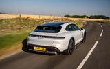 3 Porsche Taycan Cross Turismo 4S 2021 UK FD hero rear