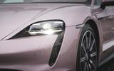 3 Porsche Taycan RWD 2021 UK first drive review headlights