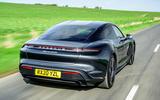 Porsche Taycan Turbo 2020 UK first drive review - hero rear
