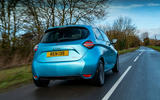 Renault Zoe 2020 UK first drive review - hero rear