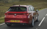3 Seat Leon estate FR 2021 UK first drive review hero rear