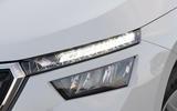 Skoda Kamiq 2019 UK first drive review - headlights