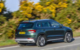 Skoda Karoq Scout 2019 first drive review - hero rear