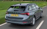 3 Skoda Octavia E Tec hybrid 2021 UK first drive review hero rear