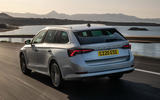 Skoda Octavia estate 2020 UK first drive review - hero rear