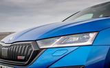 Skoda Octavia vRS TDI 2021 UK first drive review - headlights